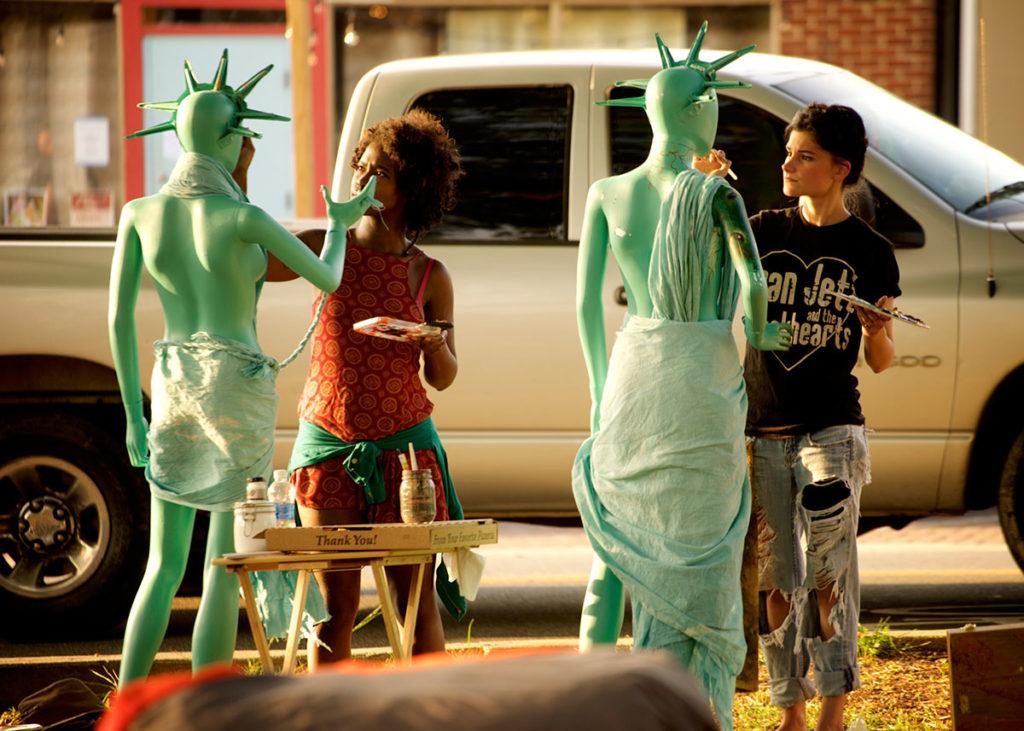 John Kennedy's Statue Installations<br /><p>Photo: David Huff</p>