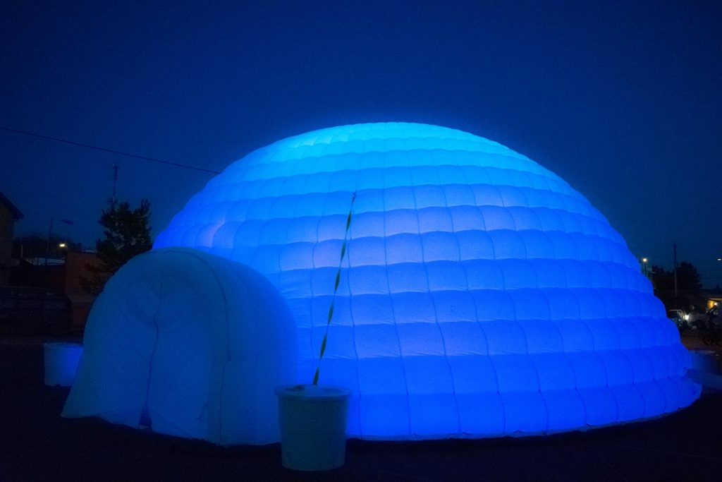 Tom Montagliano's Immersive Igloo, Photo by Elizabeth Landrum